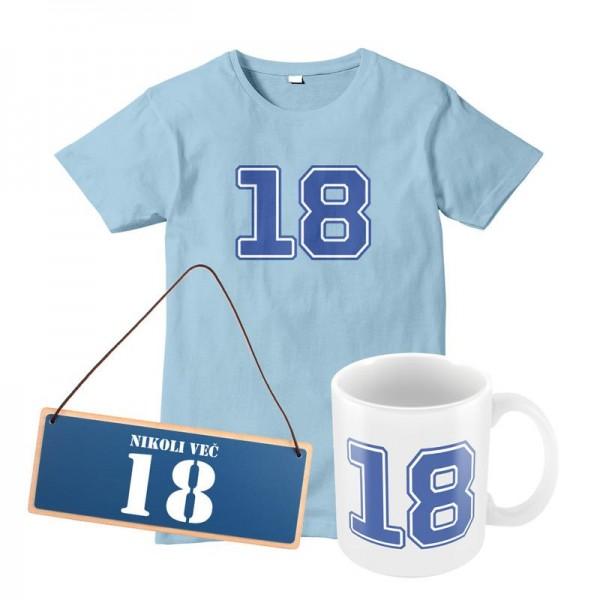 Darilni set za rojstni dan (majica, tablica, skodelica) + MENJAVA LETNICE