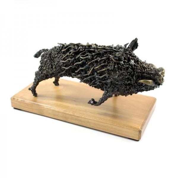 Divja svinja, ročno izdelana kovinska skulptura