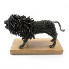 Lev, ročno izdelana kovinska skulptura