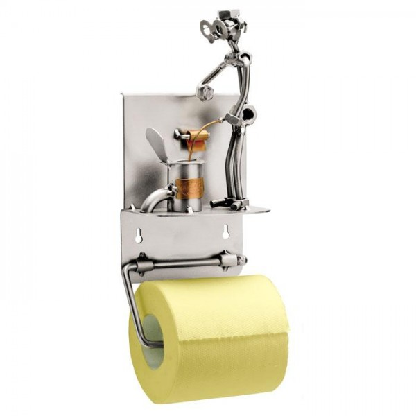 Držalo za wc papir (pee), kovinska skulptura