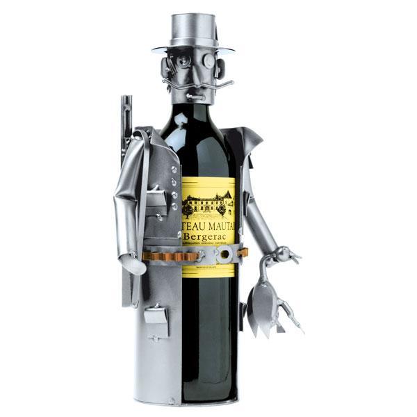 Lovski nosilec za vinsko steklenico