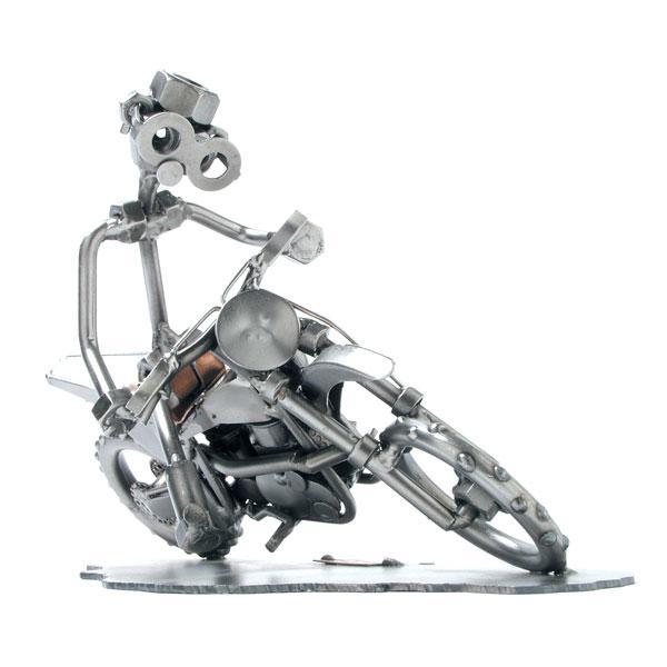 Motokros dirkač, kovinska skulptura