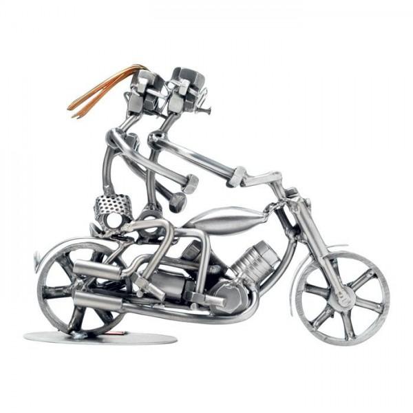 Par na motorju, kovinska skulptura (2 figuri)