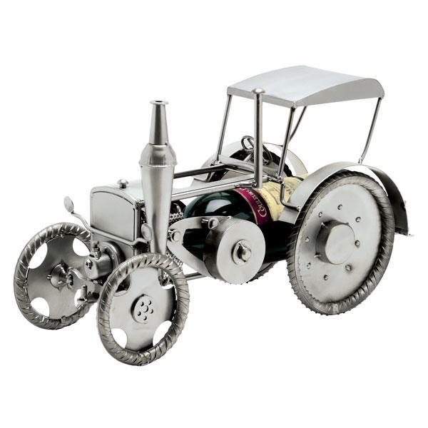 Nosilec za steklenico (traktor), kovinska skulptura