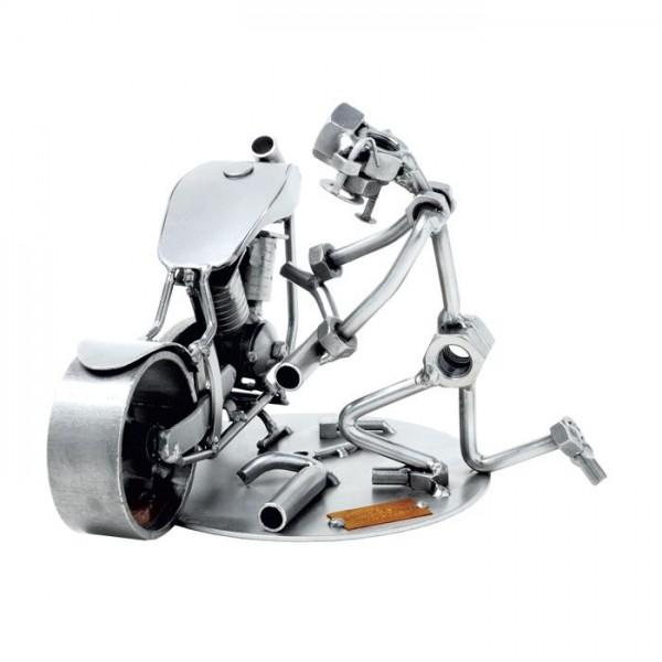 Serviser motornih koles, kovinska skulptura