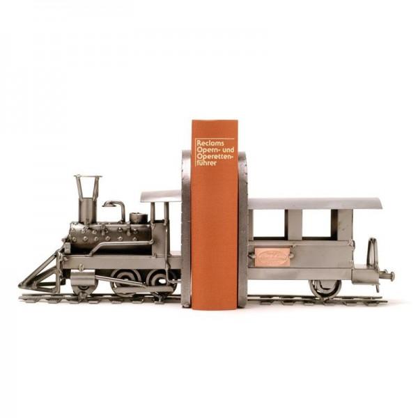 Vlak (opora za knjige), kovinska skulptura