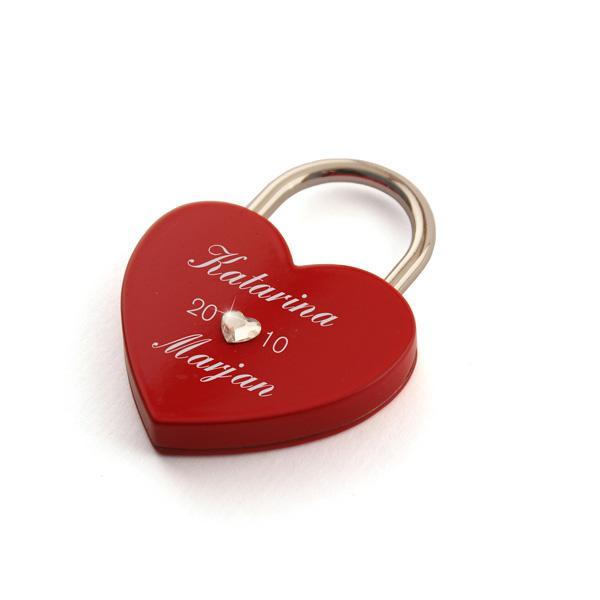 Ključavnica ljubezni L06, Swarovski kristal