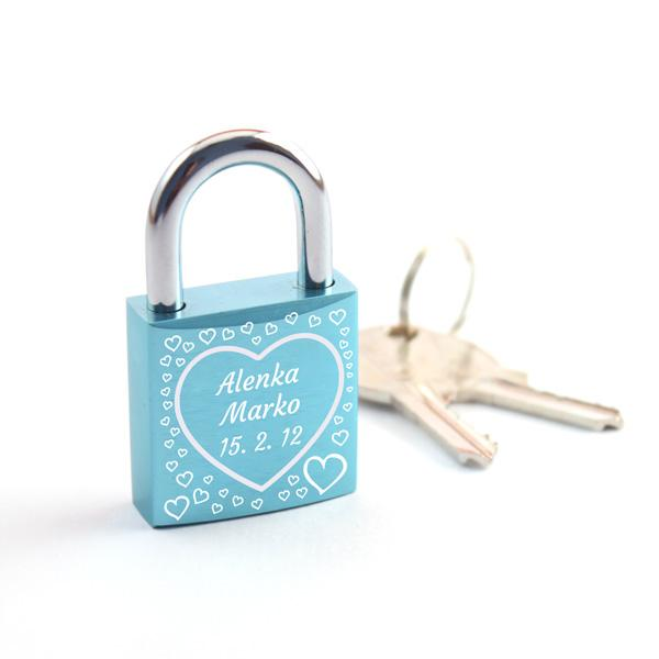 Ključavnica ljubezni L12, graviranje