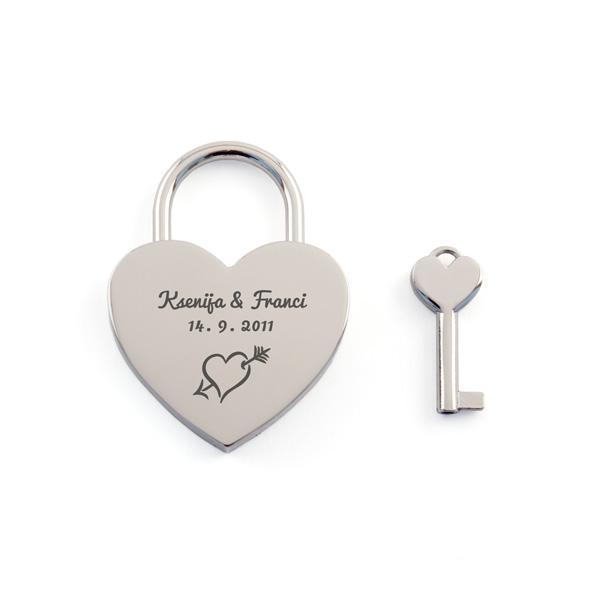 Ključavnica ljubezni L08, graviranje