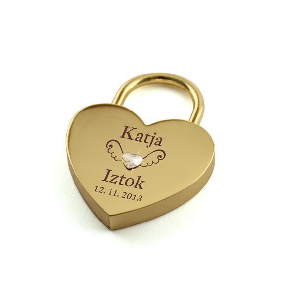 Ključavnica ljubezni L05, Swarovski kristal