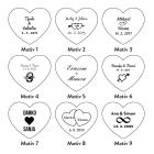 Ključavnica ljubezni L03, graviranje