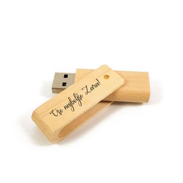 USB ključ 16GB iz lesa z gravuro