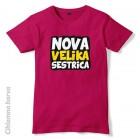 Otroška majica Nova velika sestrica