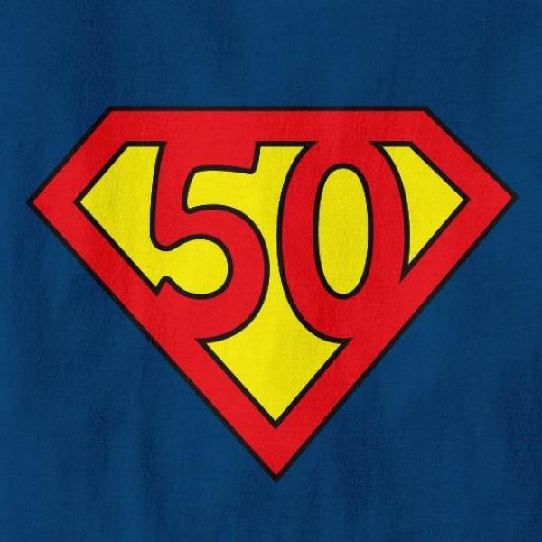 Majica 50 superman logo + MENJAVA LETNICE