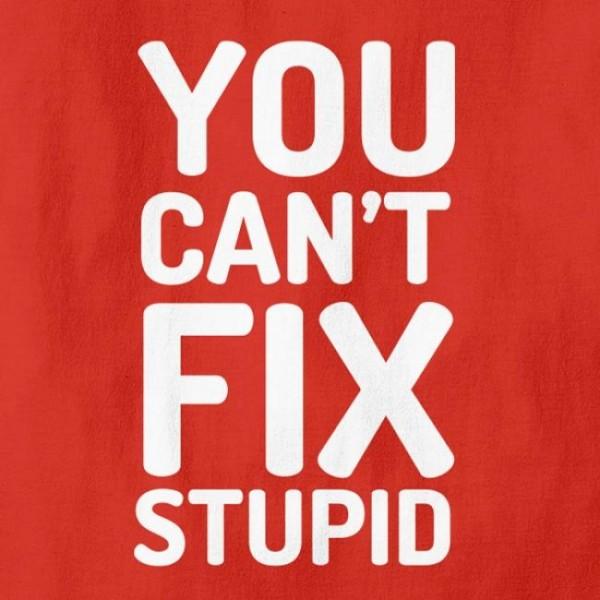 Majica You can't fix stupid