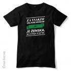 Majica Za vsakim velikim moškim je ženska