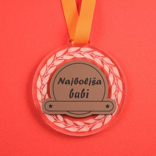 Medalja Najboljša babi + GRAVIRANJE