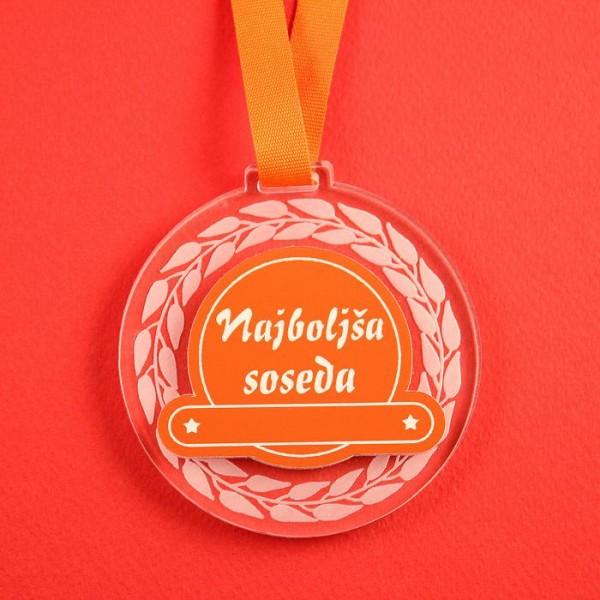 Medalja Najboljša soseda + GRAVIRANJE