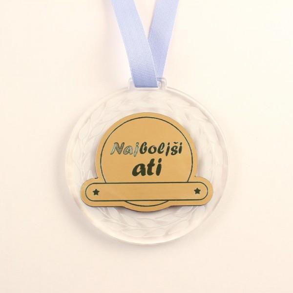 Medalja Najboljši ati + GRAVIRANJE
