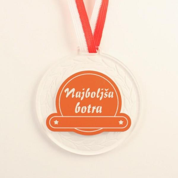Medalja Najboljša botra + GRAVIRANJE