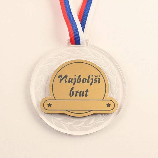 Medalja Najboljši brat + GRAVIRANJE