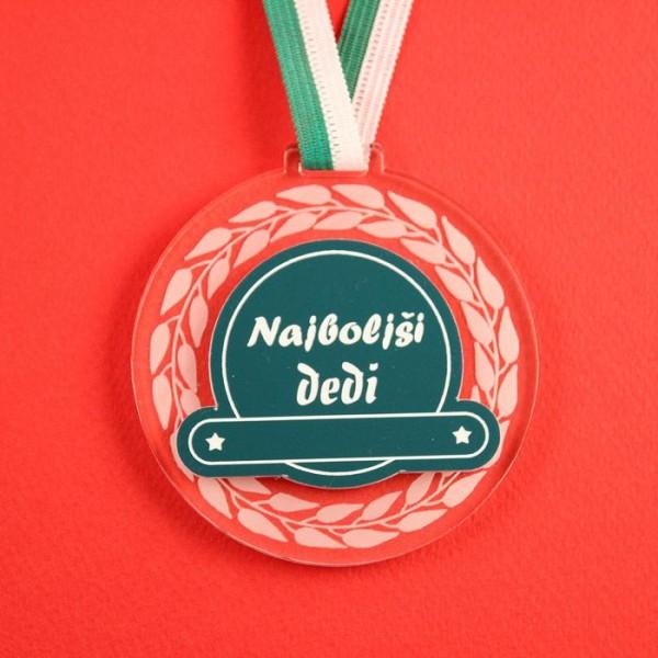 Medalja Najboljši dedi + GRAVIRANJE
