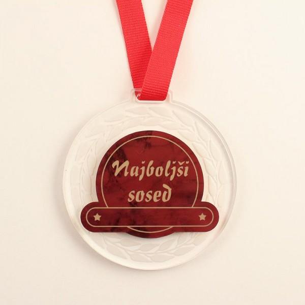 Medalja najboljši sosed + GRAVIRANJE