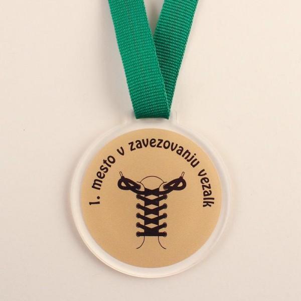 Otroška medalja 1. mesto v zavezovanju vezalk