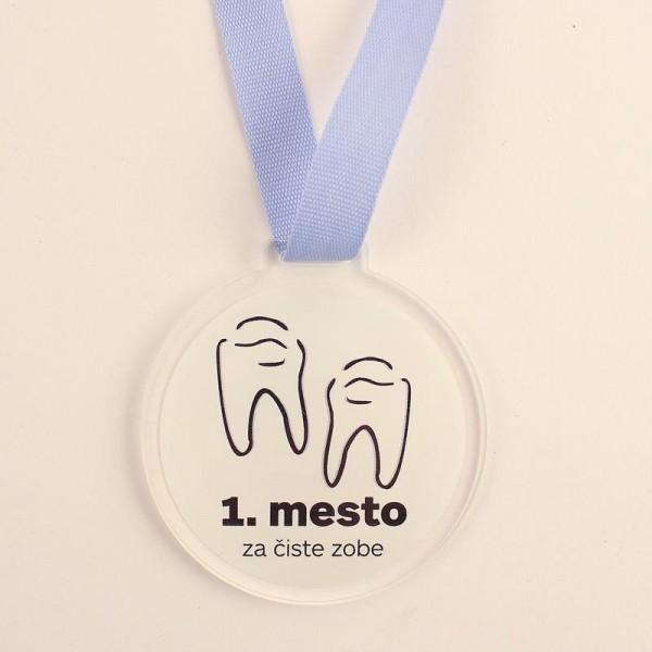 Otroška medalja 1. mesto za čiste zobe