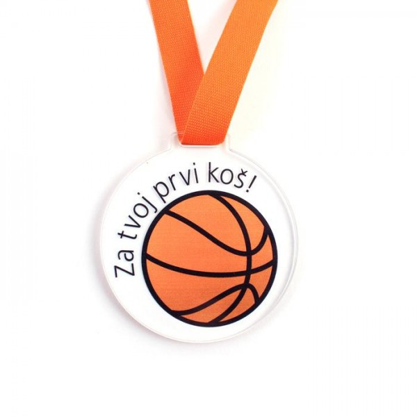 Otroška medalja Za tvoj prvi koš