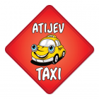 Nalepka za avto Atijev taxi