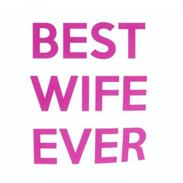 Nalepka za avto best wife ever