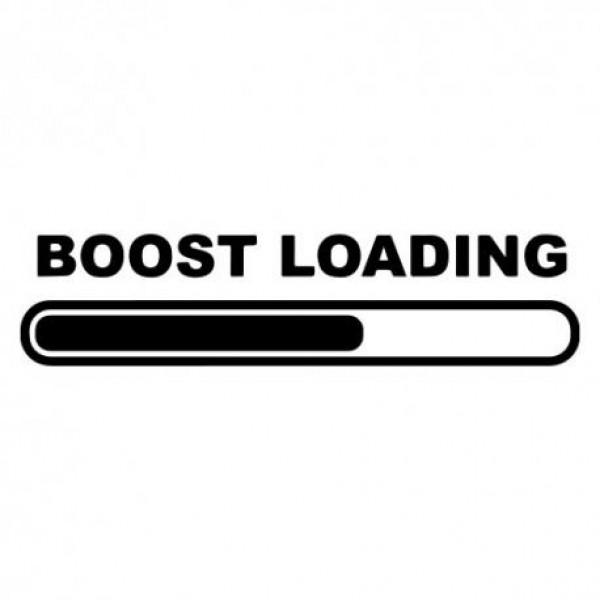 Boost loading nalepka za avto