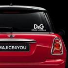 Nalepka za avto Delam & Garam