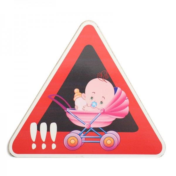 Pazi dojenček v avtu nalepka, punčka