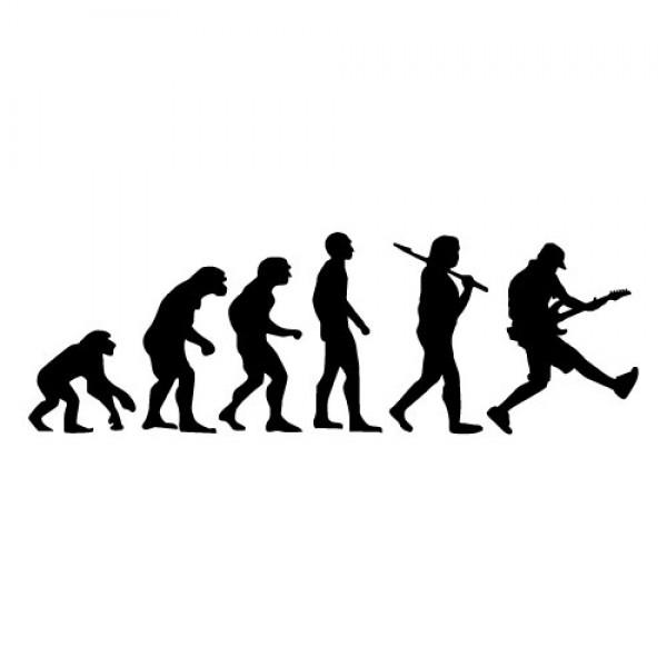 Evolucija kitarist nalepka