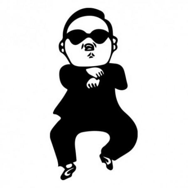 Gangnam style nalepka