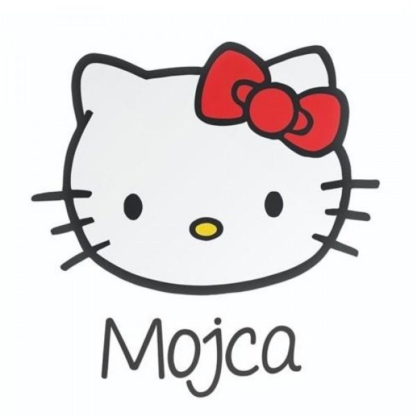 Hello Kitty avto nalepka z imenom otroka