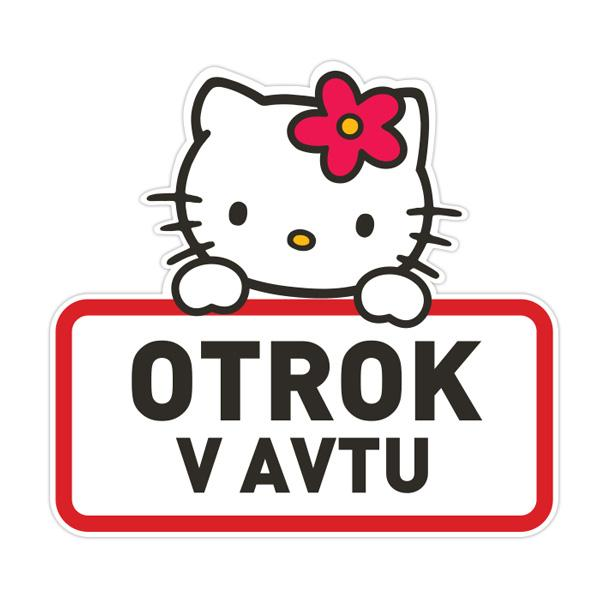Nalepke za avto Hello Kitty