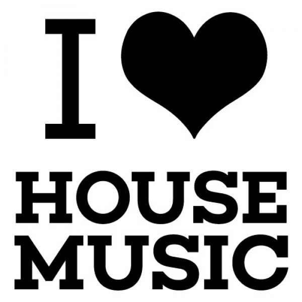 Nalepka za avto I love House Music