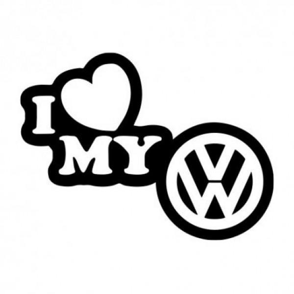 I love my Wolksvagen nalepka za avto