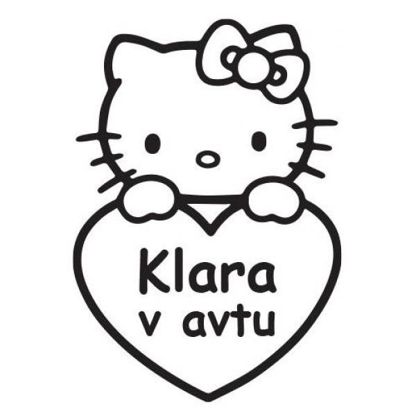 Hello Kitty nalepka za avto v več barvah