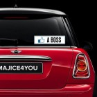 Nalepka za avto Like a Boss