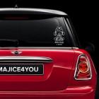 Nalepka za avto princeska v avtu