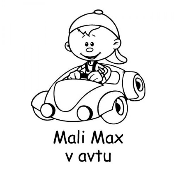 Avto nalepka mali fantek v avtu