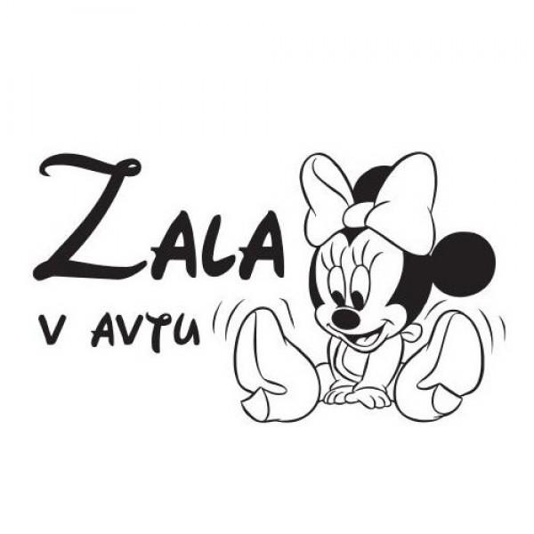 Nalepka za punčke Minnie Mouse z napisom