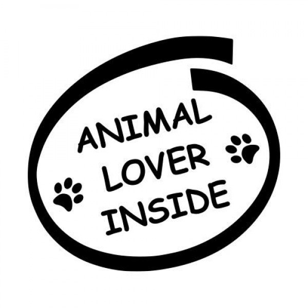 Animal lover inside nalepka