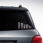 Nalepka za avto Družina
