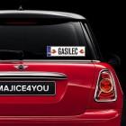 Nalepka za avto tablica z imenom gasilec