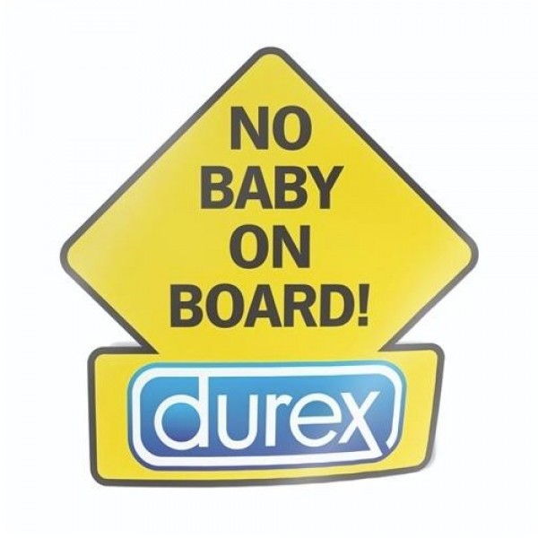 No Baby on Board Durex